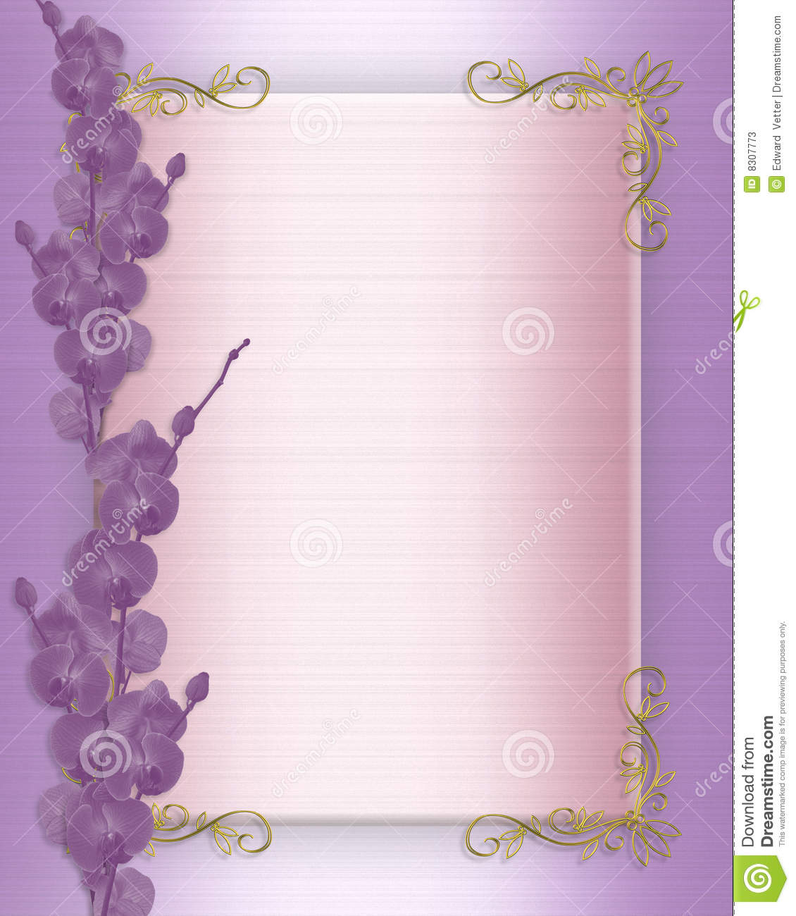 Famous orchid wedding invitation more famous orchid wedding invitation