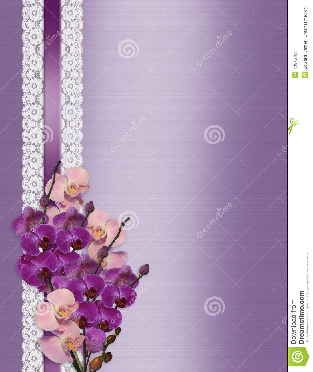 wedding invitation orchids lavender satin 13576791 wedding invitation orchids on lavender satin stock image image,Lavender Wedding Invitation Templates