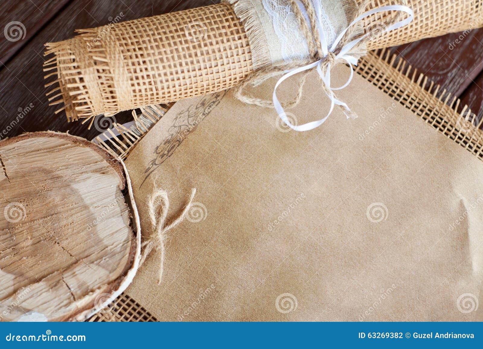 Wedding Invitation On Parchment Paper Stock Photo - Image: 63269382