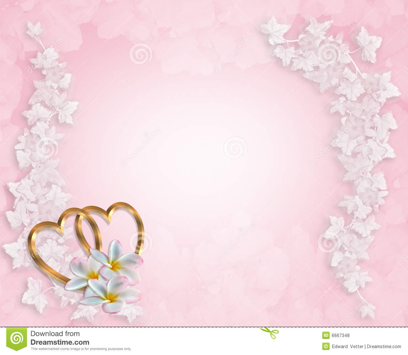 Wedding Invitation Pink Plumeria Stock Illustration Illustration