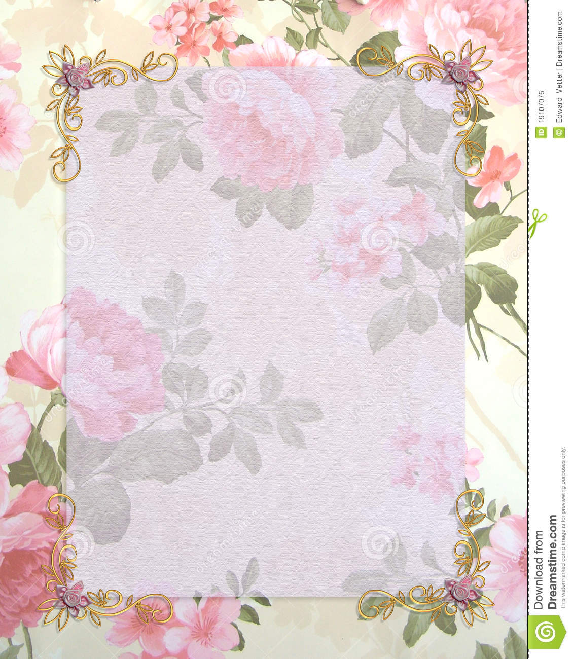 Wedding Invitation Pink Roses Stock Illustration - Image ...