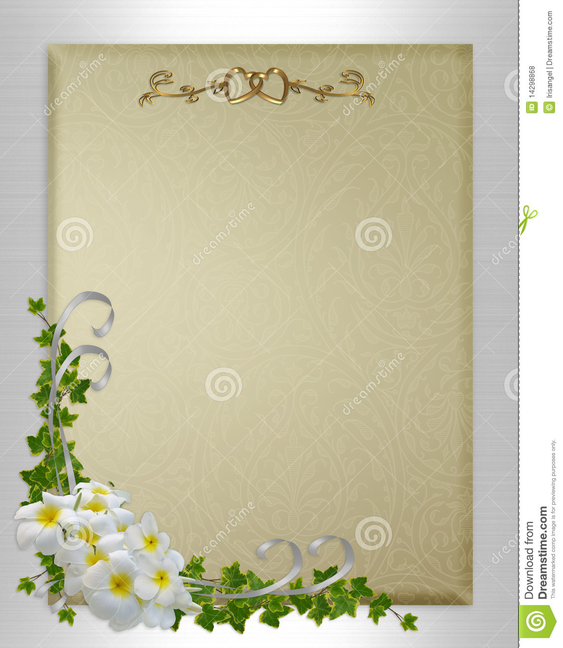 Wedding invitation plumeria and ivy stock illustration royalty free stock photo stopboris Image collections