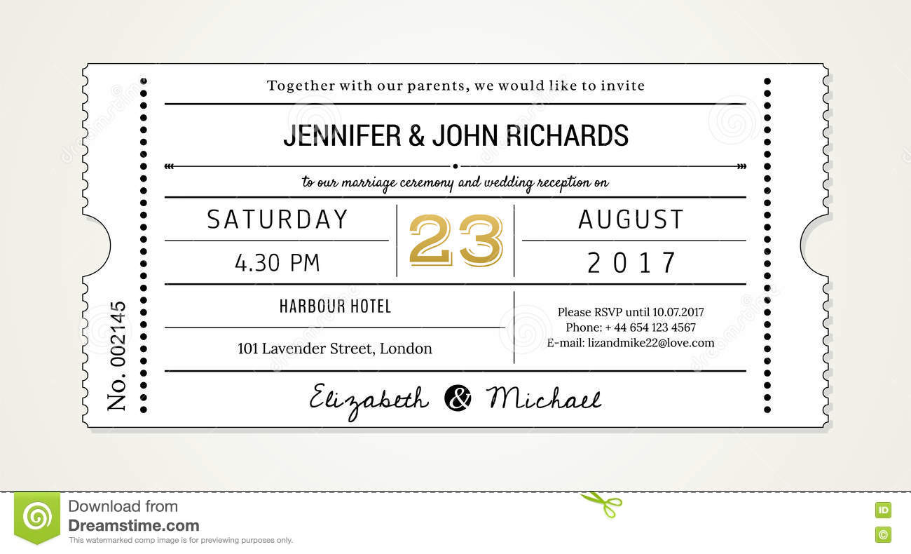 Wedding Invitation Pt 1 Template Invite With Used Fonts