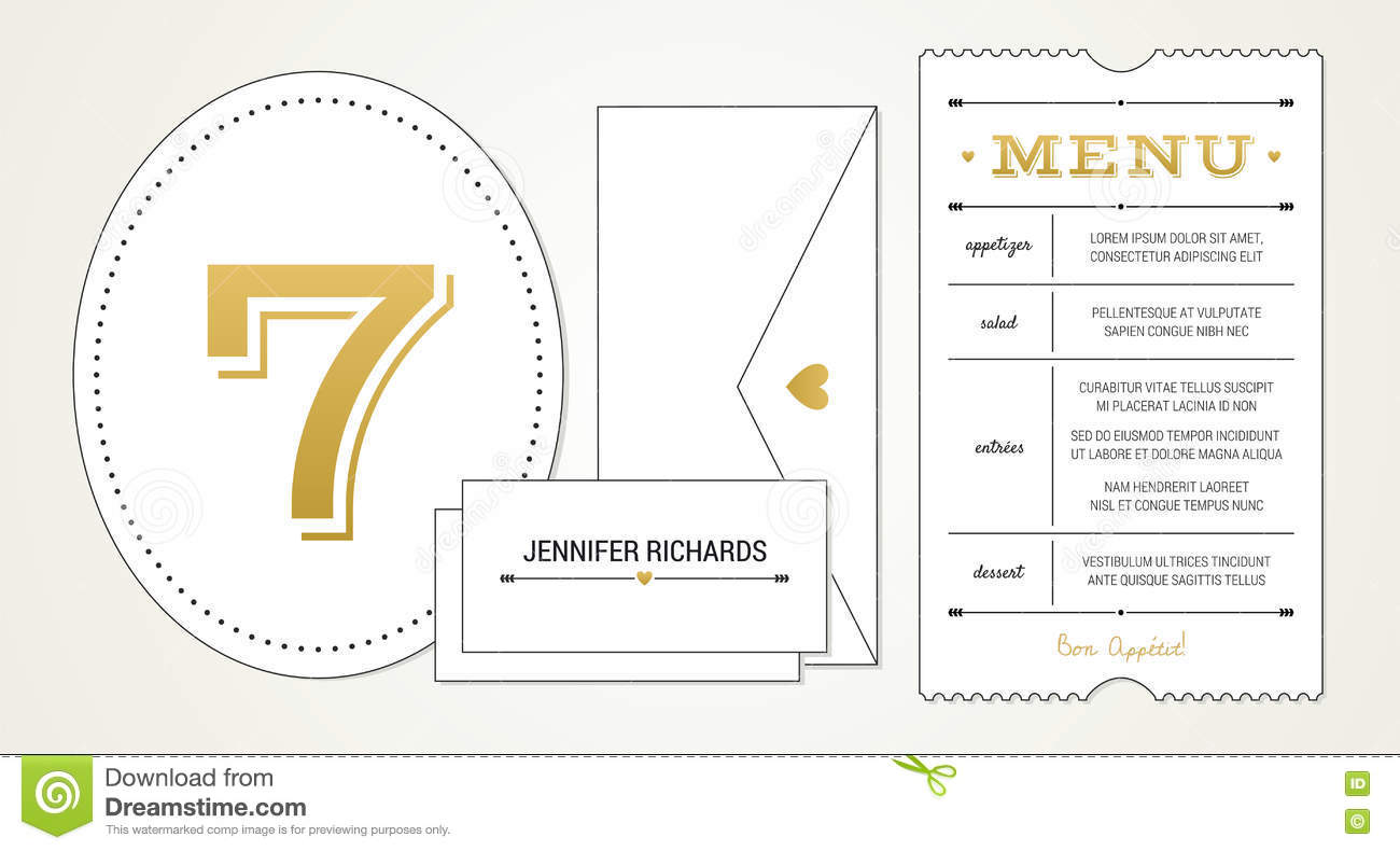 wedding invitation pt 3 template menu table number name place