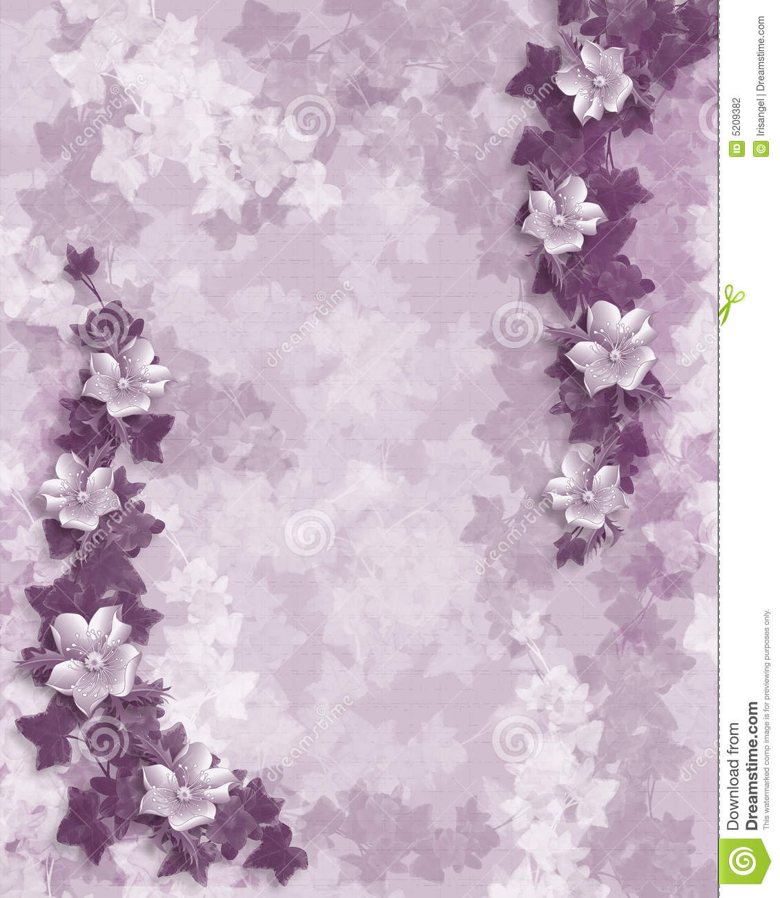 Wedding Invitation Purple Floral Template Stock Photography - Image ...