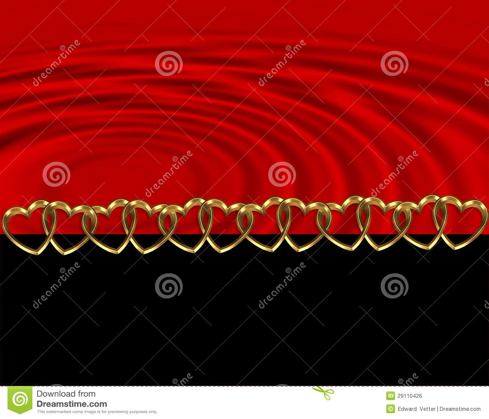 Wedding Invitation Red And Black Stock Illustration Illustration