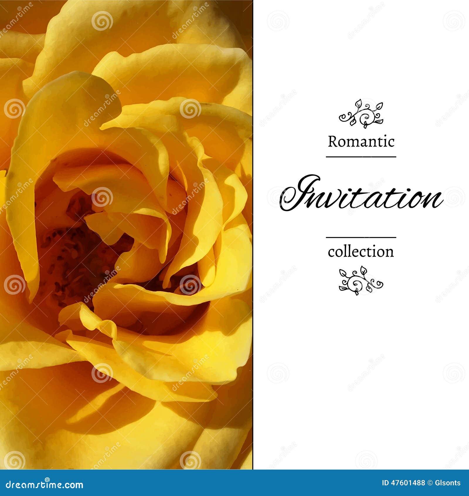 wedding invitation in romantic style eps jpg stock vector