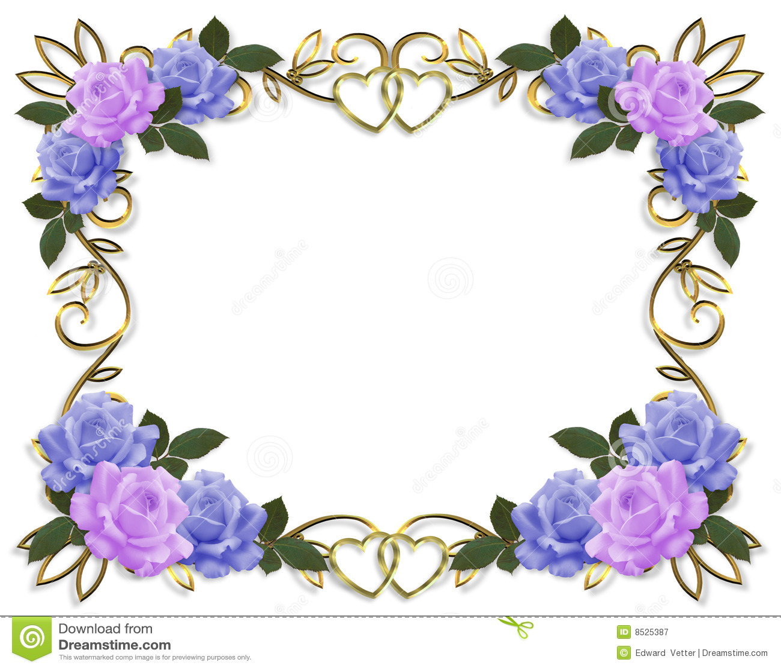 Rose Flower Page Border - comousar