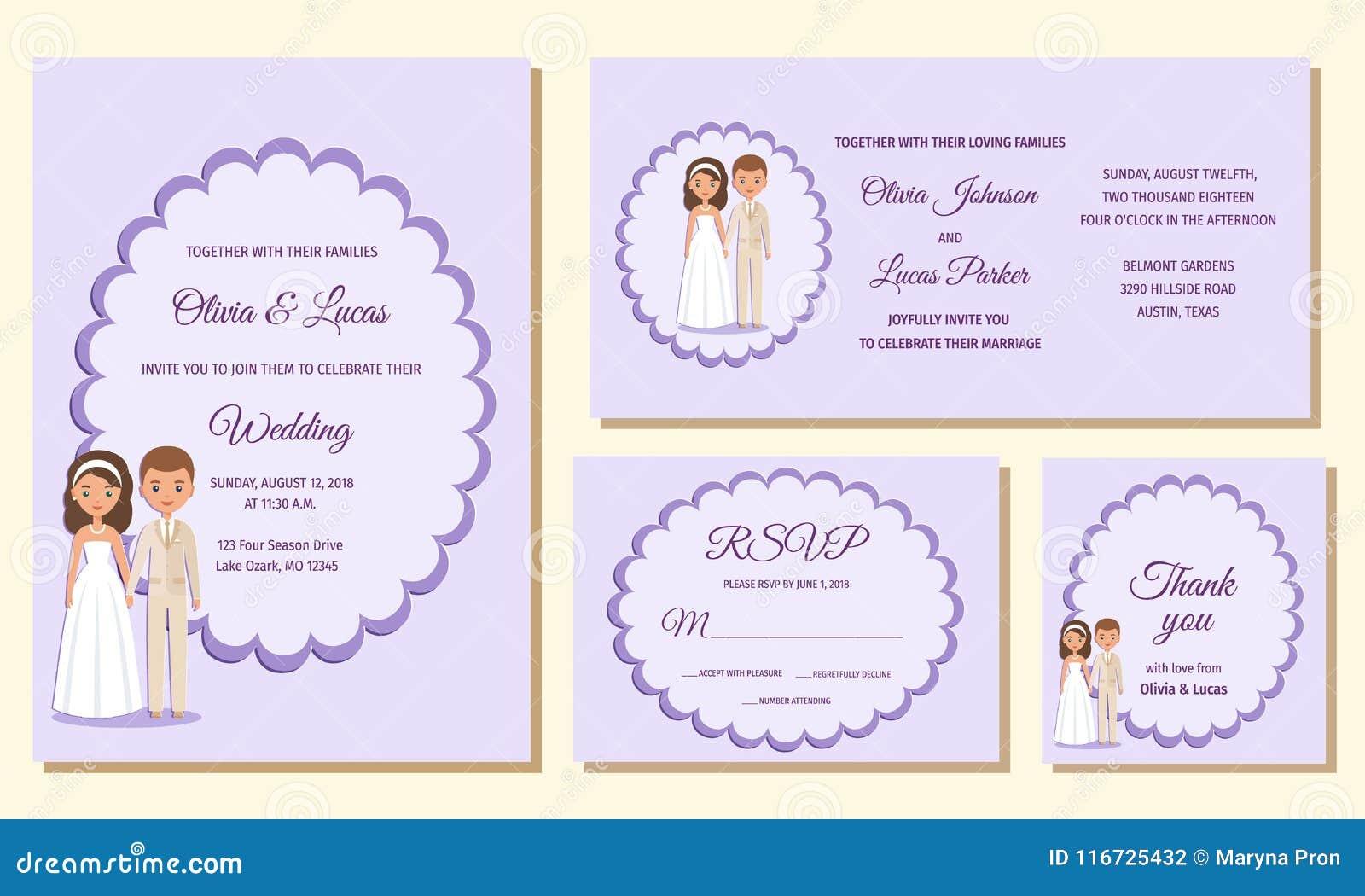 Wedding Invitation Templates Greeting Cards Vector