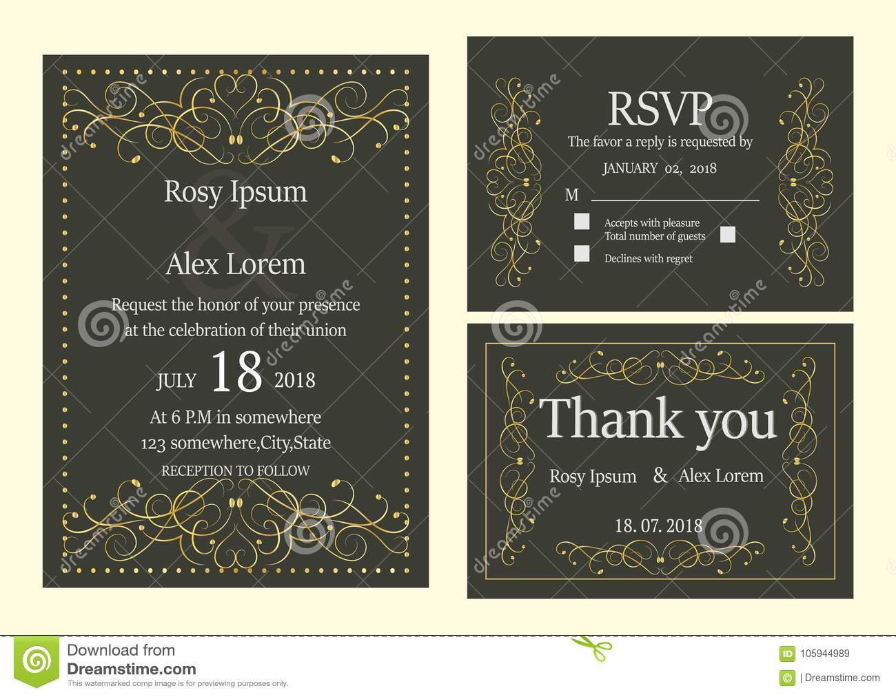 wedding invitation save the date rsvp card thank you card t