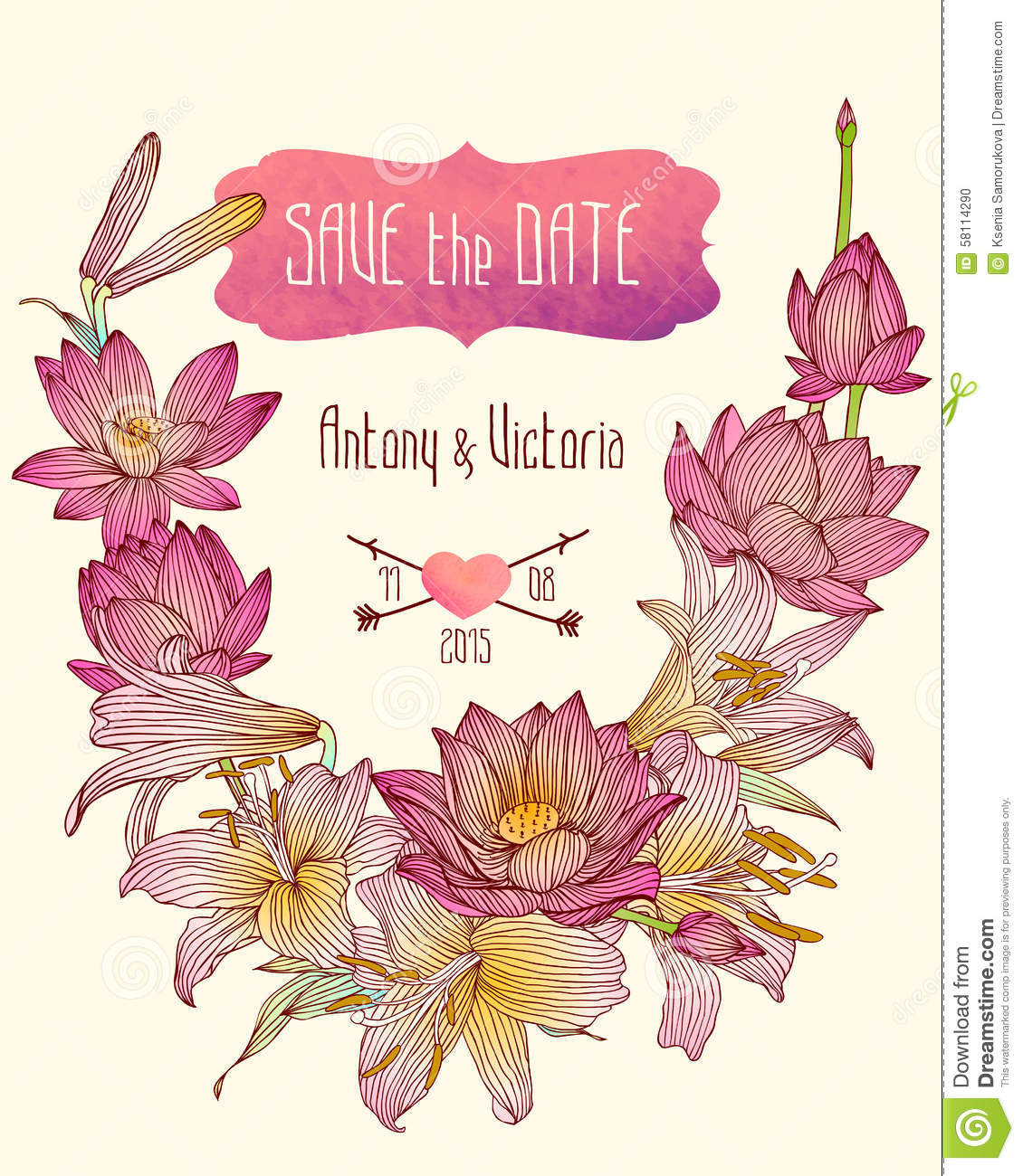 wedding invitation save the date template lotus and royal wedding invitation save the date template lotus and royal lily flowers