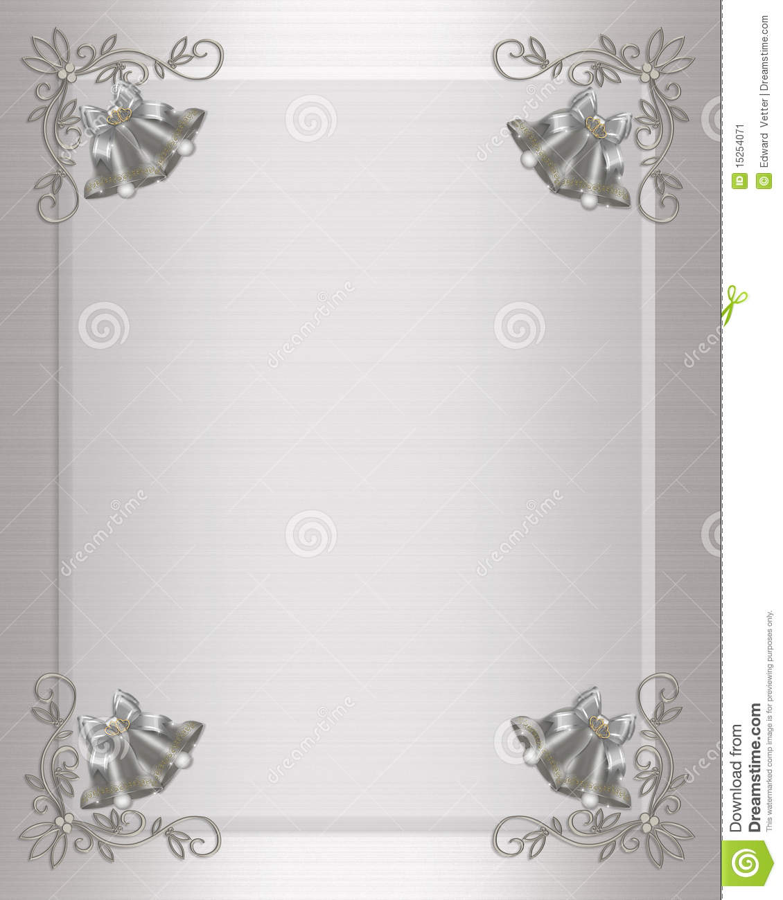 Backdrops Silver Wedding Invitations: Wedding Invitation Silver Bells Stock Illustration