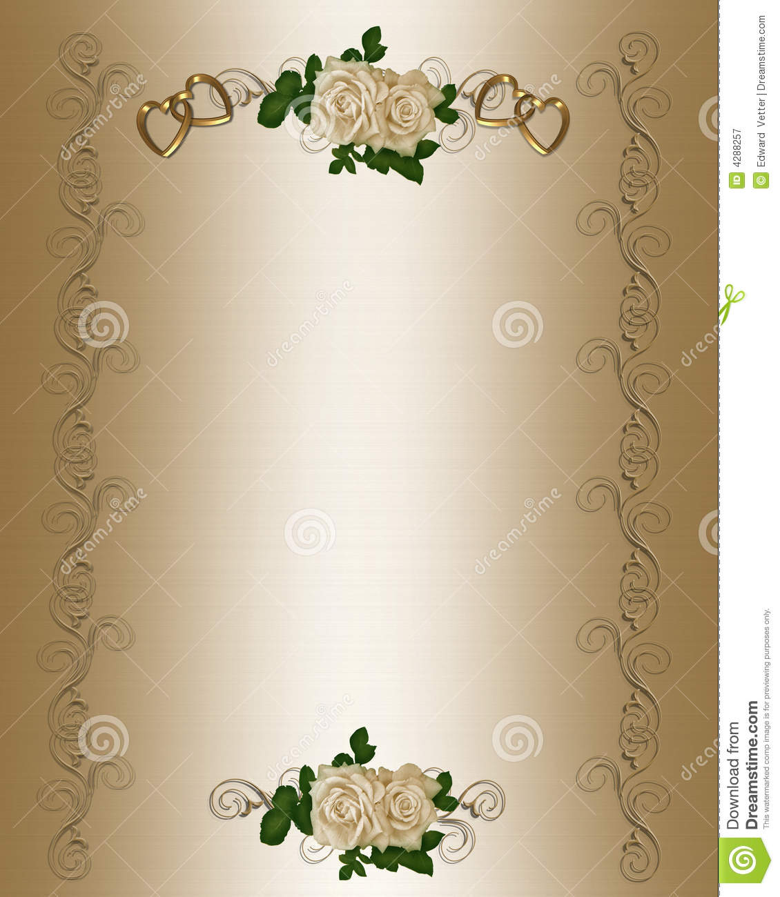 Wedding Invitation Template Stock Illustration