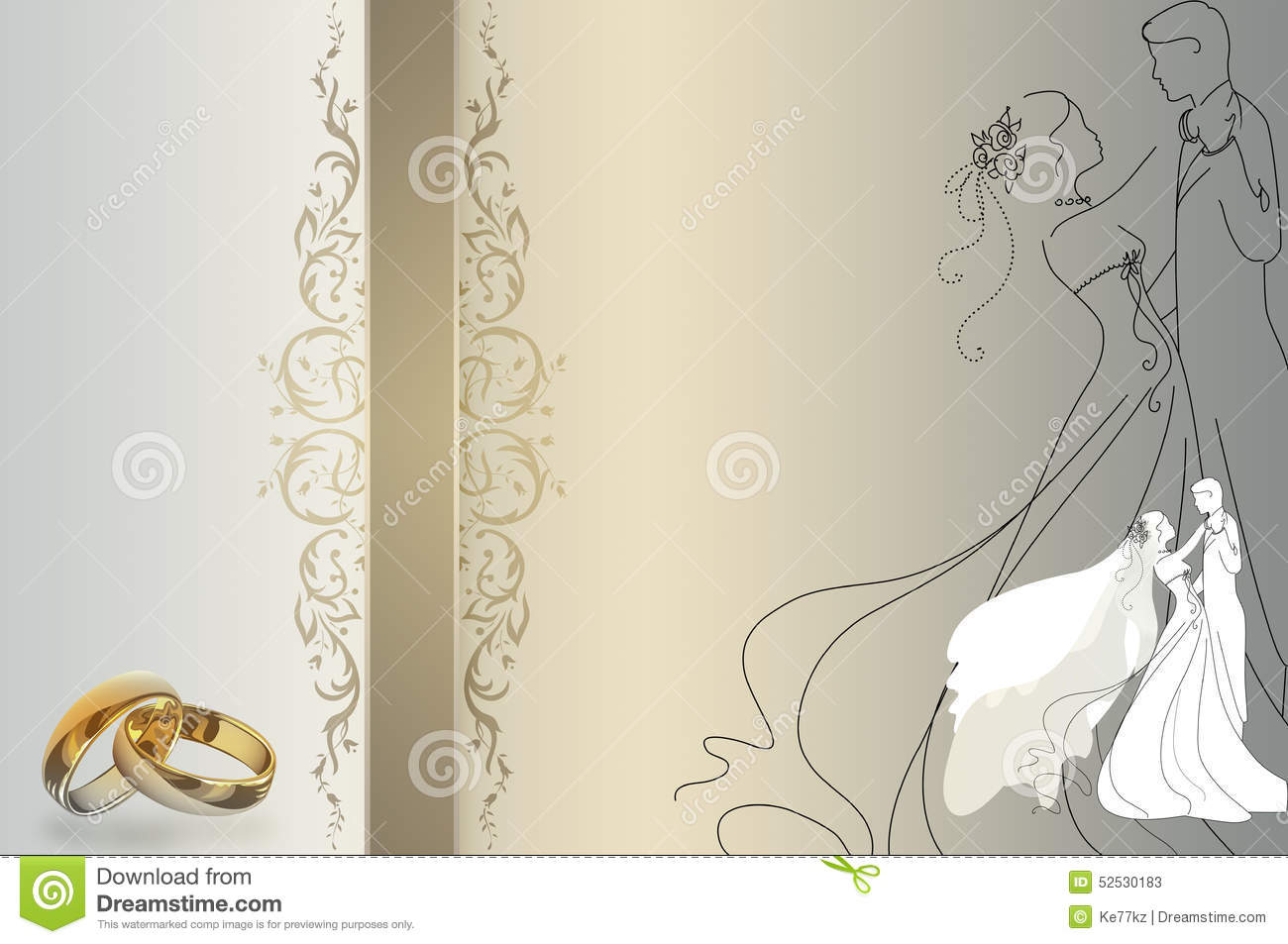 Background Pictures For Wedding Invitations: Wedding Invitation Template. Stock Illustration
