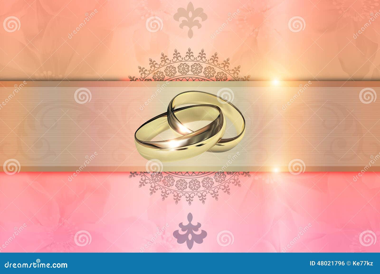 Wedding Invitation Template Stock Illustration