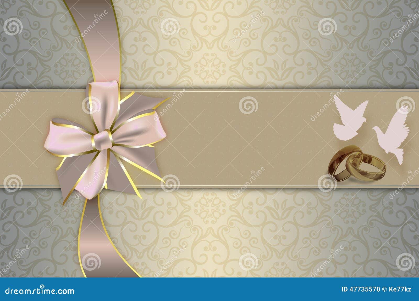 Wedding invitation. stock illustration. Image of pattern ...