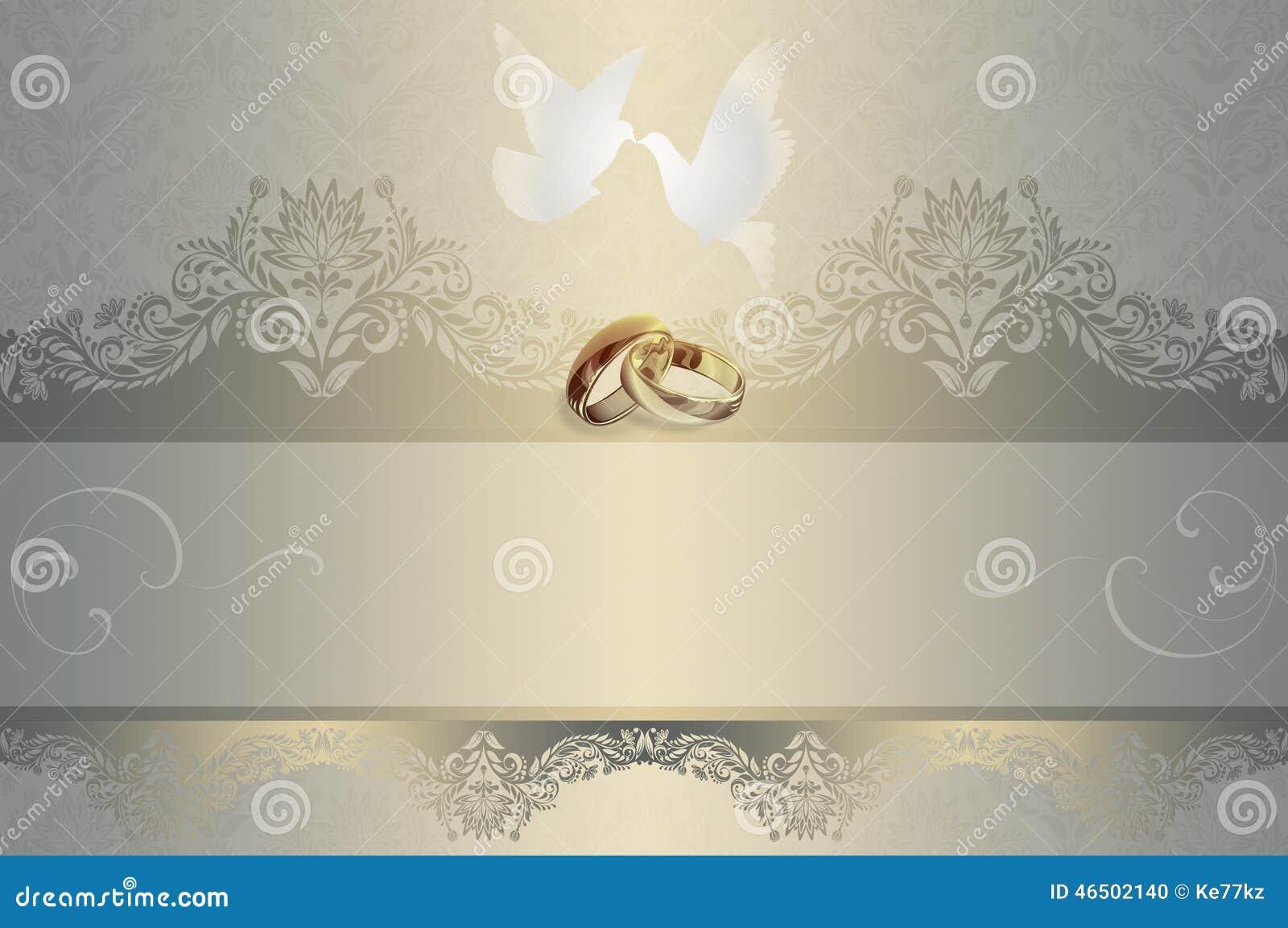 Wedding Invitation Stock Illustration Image Of White