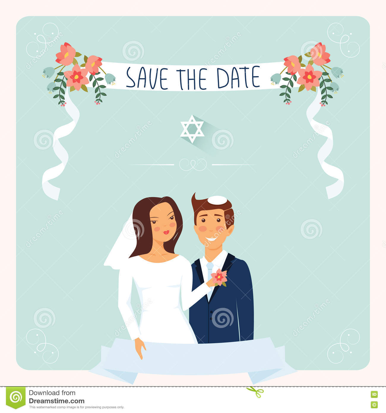 Wedding Invitation Template. Stock Vector - Illustration of design
