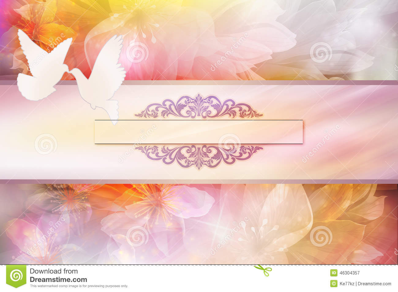 wedding invitation template stock illustration image