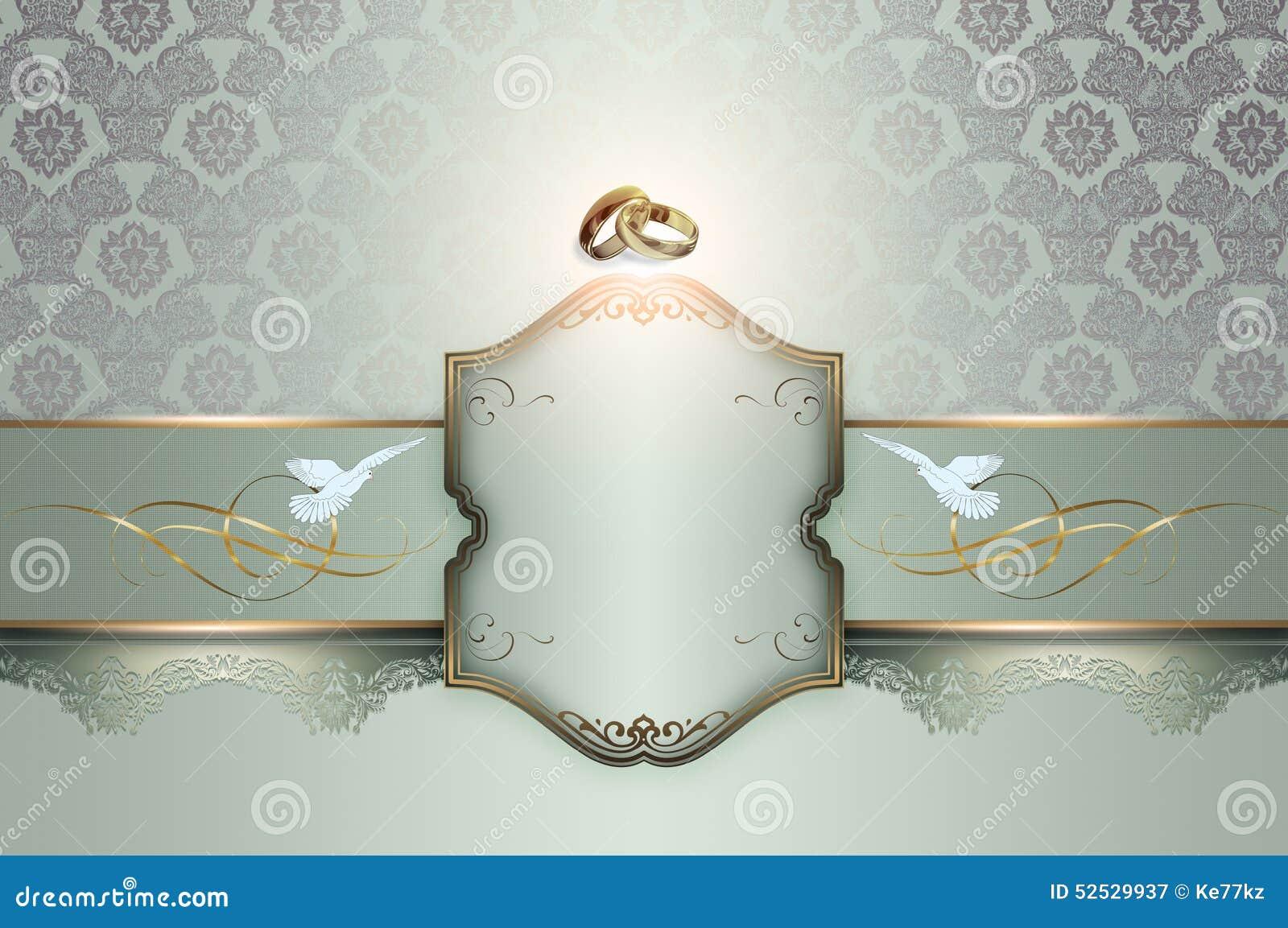 Wedding Invitation Template Stock Illustration Illustration Of