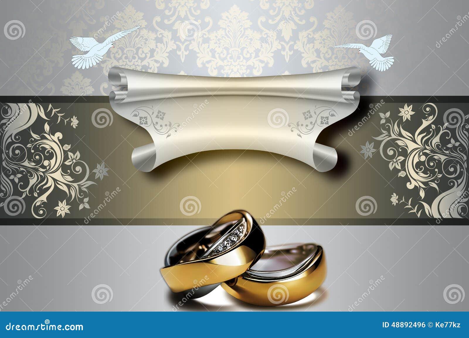Wedding Invitation Template. Stock Illustration - Illustration of ...
