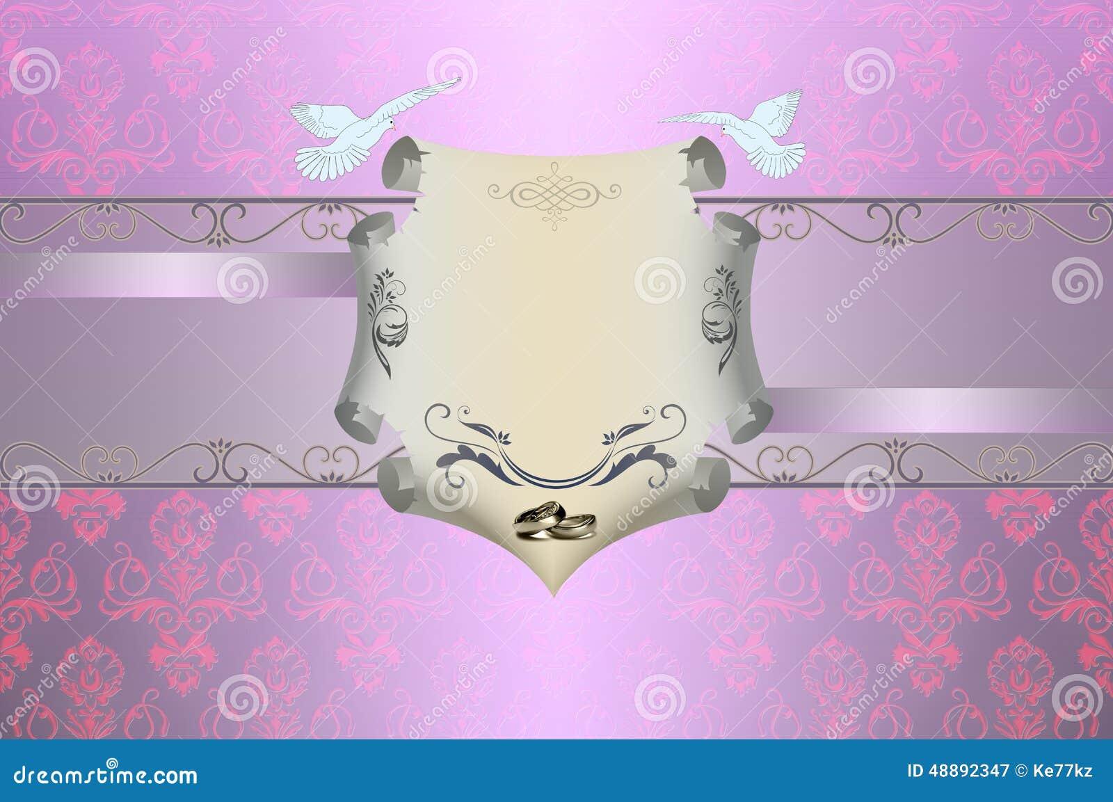 Wedding invitation template. Royalty-Free Illustration