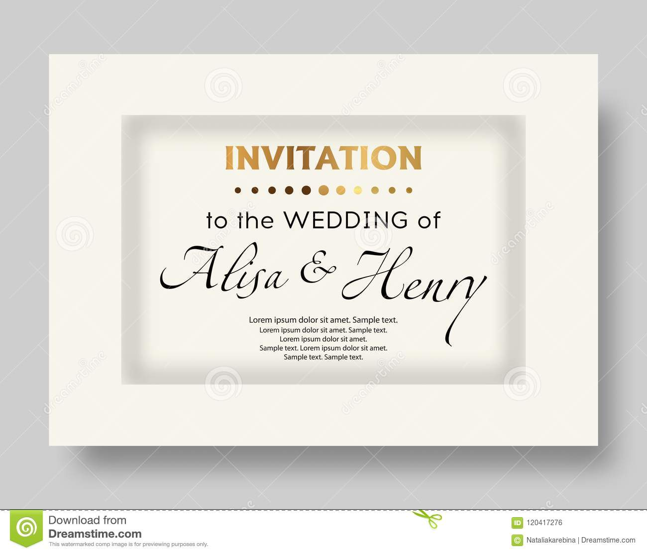 Wedding Invitation Template Elegant Background For Text Greeting