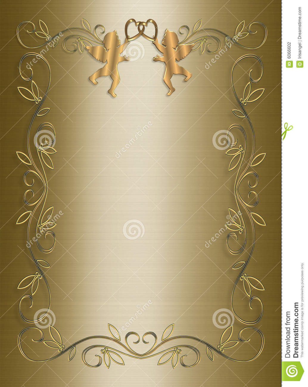wedding invitation template gold satin stock illustration