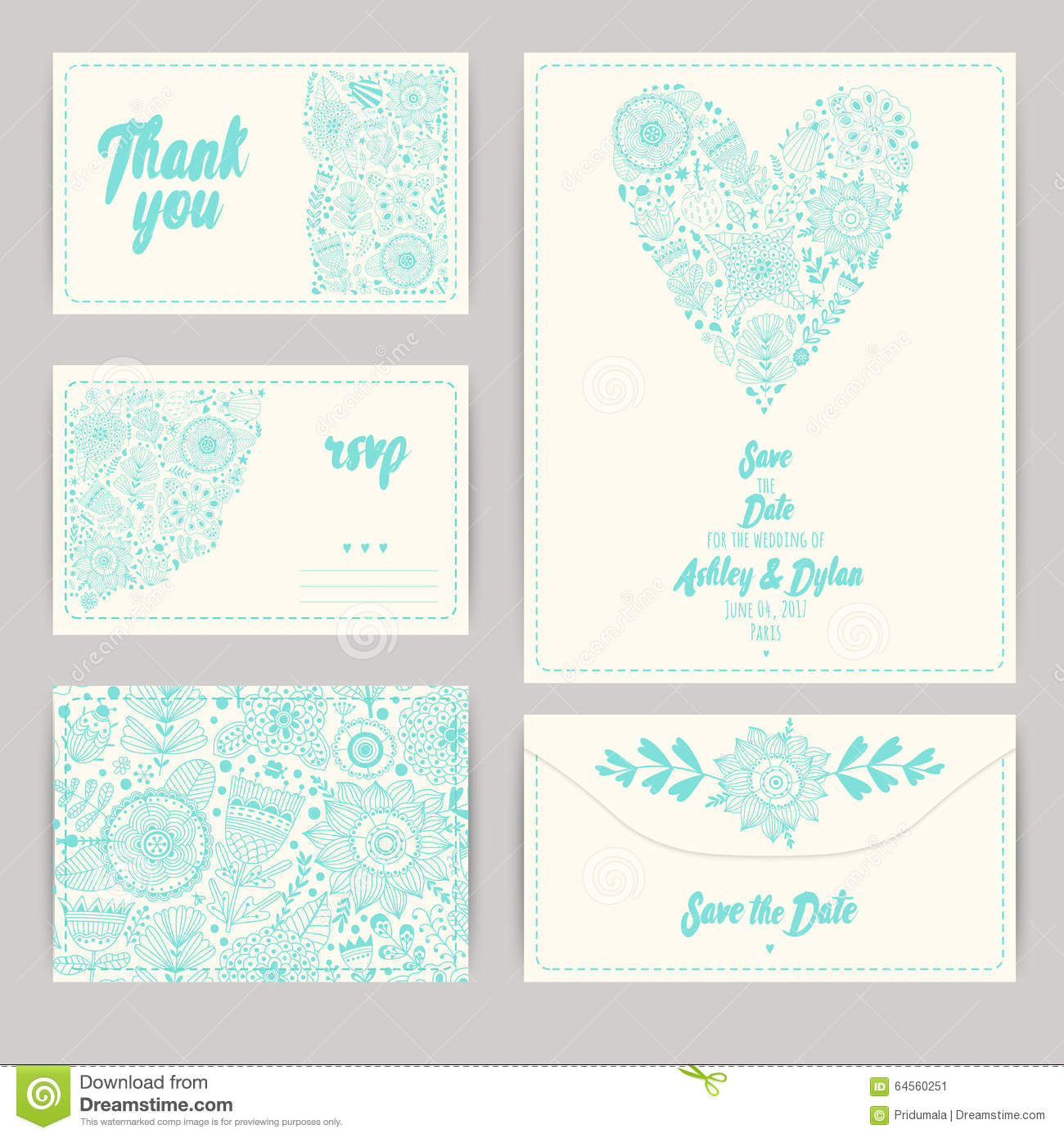 Wedding Invitation Template Invitation Envelope Thank