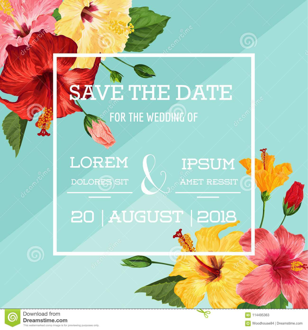 Wedding invitation template with red hibiscus flowers save the date download wedding invitation template with red hibiscus flowers save the date floral card for greetings m4hsunfo