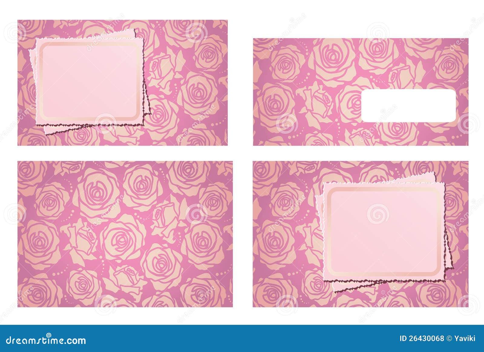 Wedding Invitation Template Set And Envelope Royalty Free Stock Photos ...