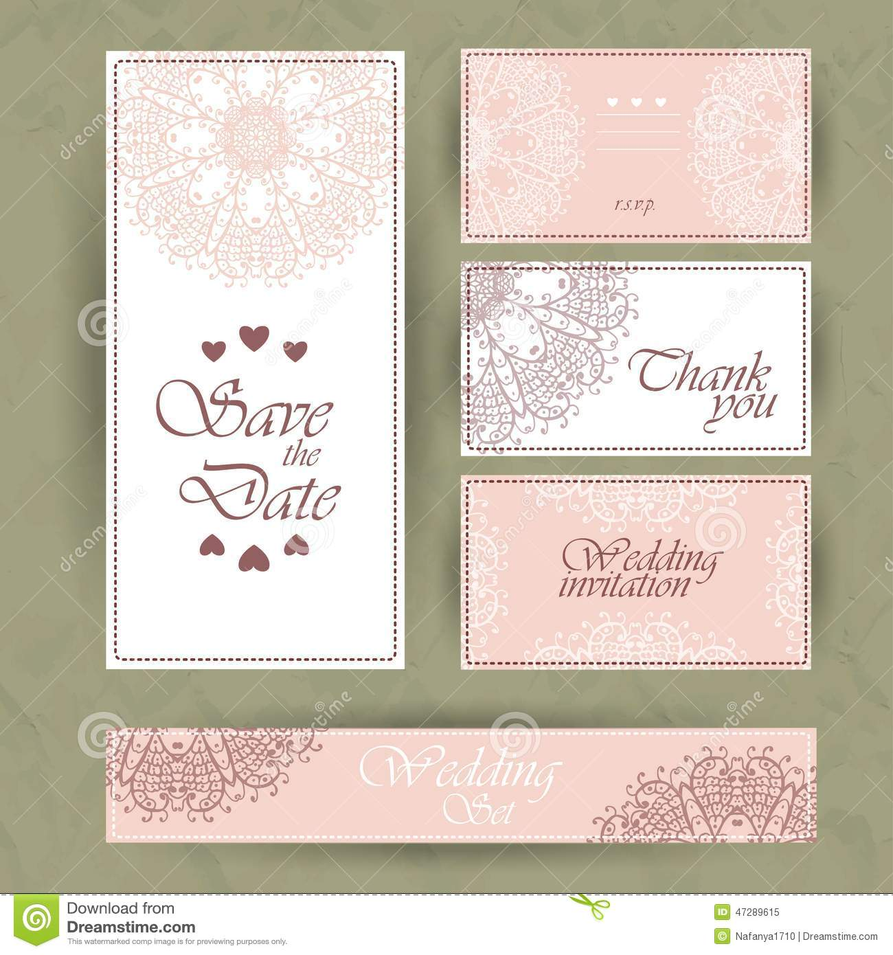 Wedding Invitation Thank You Card Save The Date Cards RSVP Card – Wedding Invitations with Rsvp Cards
