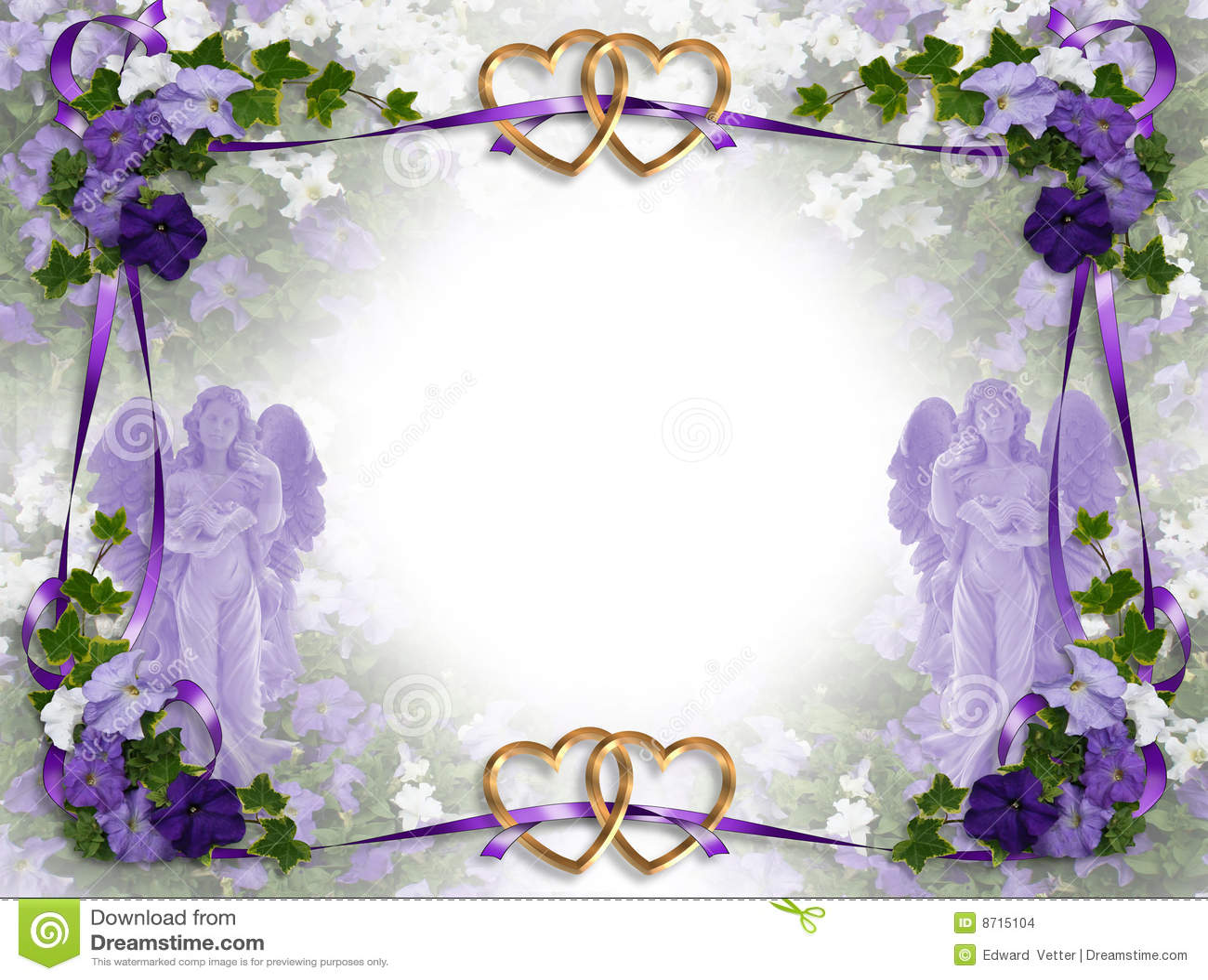 Wedding Invitation Victorian Angels Stock Illustration ...