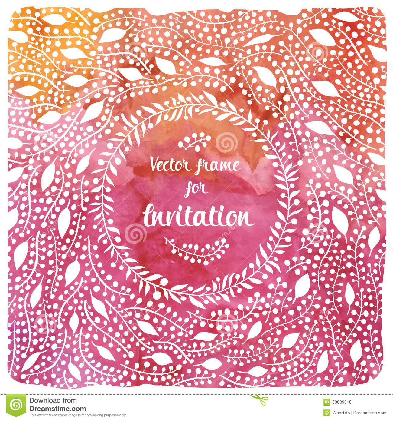 Nice template for the cover of the envelope or invitation with bright ...