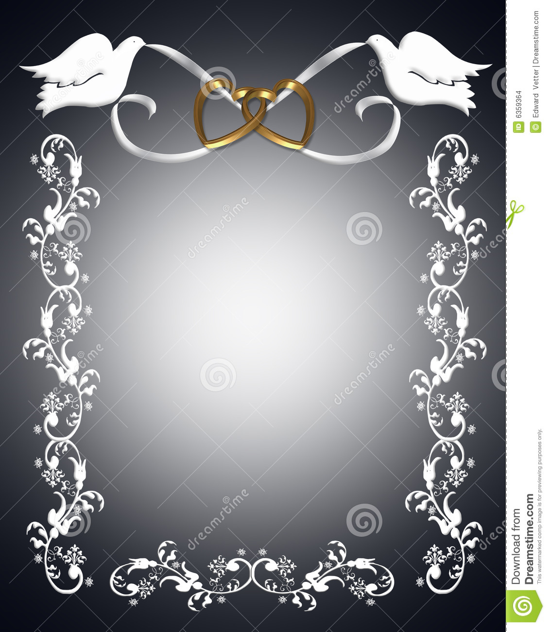 Wedding Invitation white doves