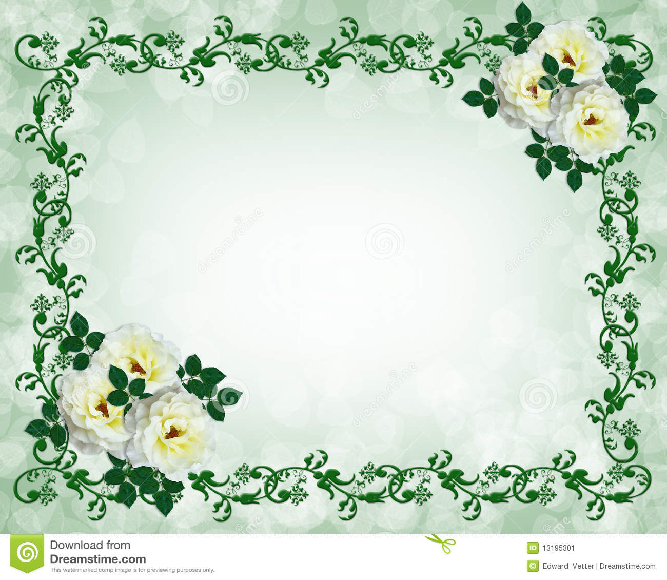 template for wedding invitation, stationery, border or frame