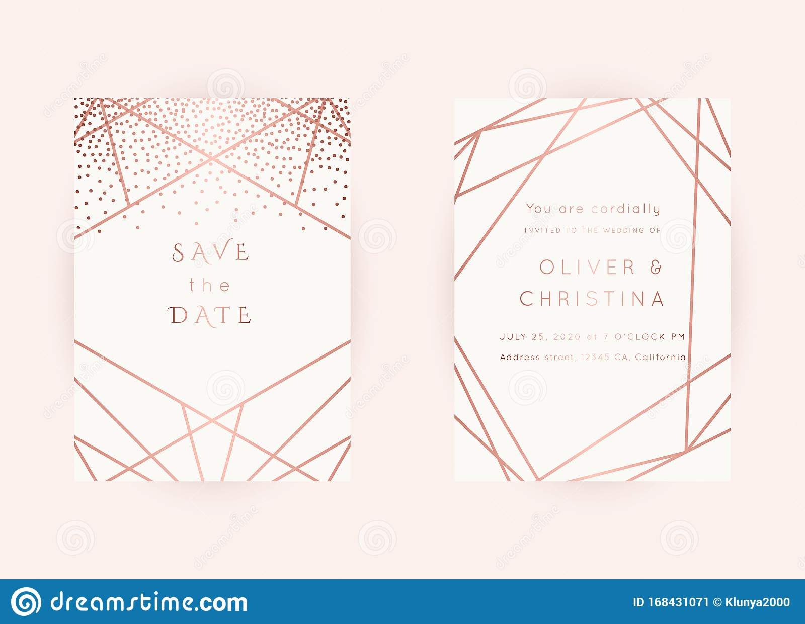 Wedding Invitations Rose Gold Vector Stock Vector Illustration Of Gold Party 168431071