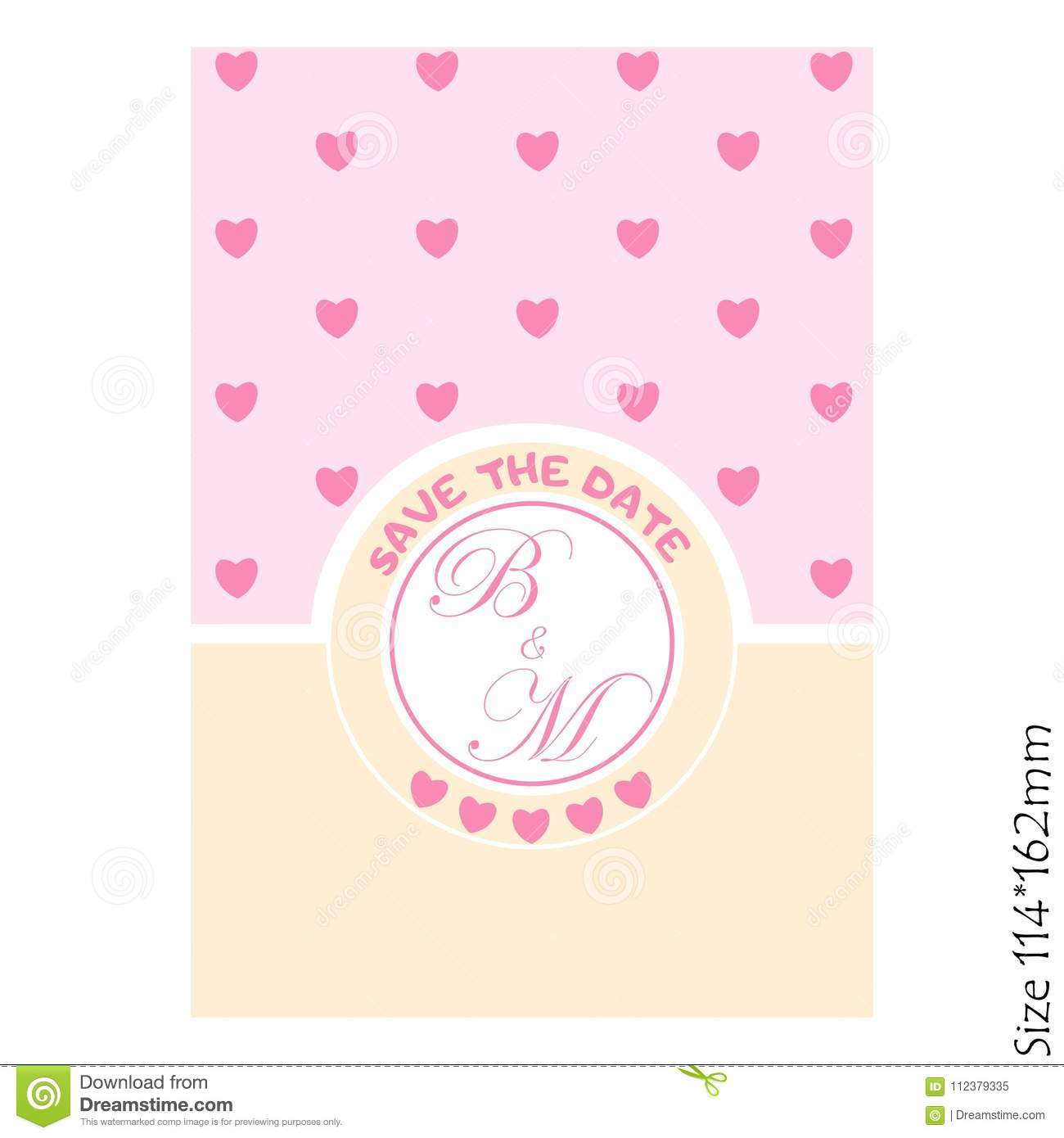 Wedding Invitations - save the date-with hearts cards.