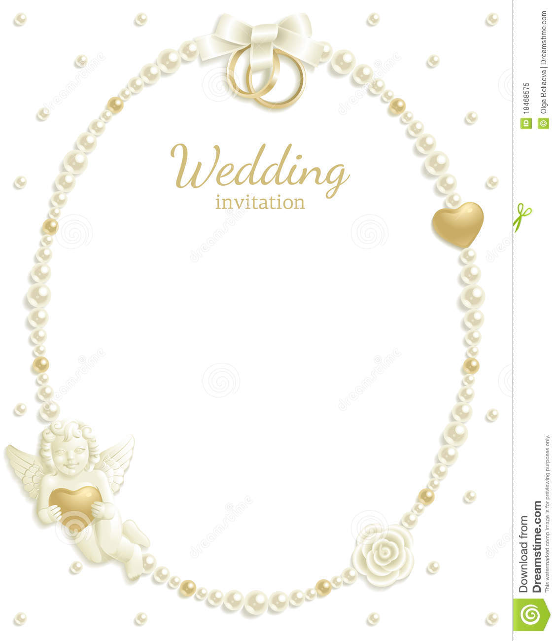 Wedding background with jewels composing a frame for your text.