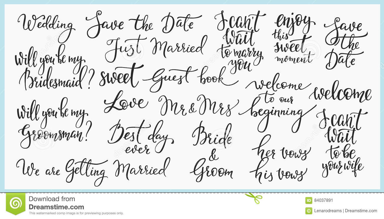 5e19e77ac Sweet cute inspiration typography. Calligraphy photo graphic design  element. Hand written sign. Love story wedding family album decoration.