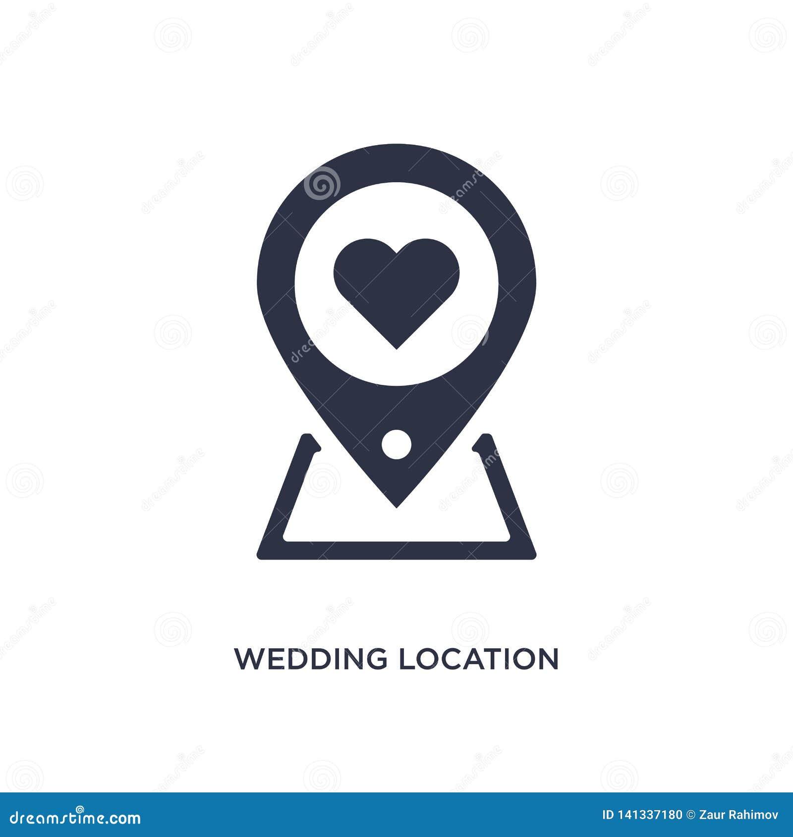 Wedding Location Icon On White Background  Simple Element
