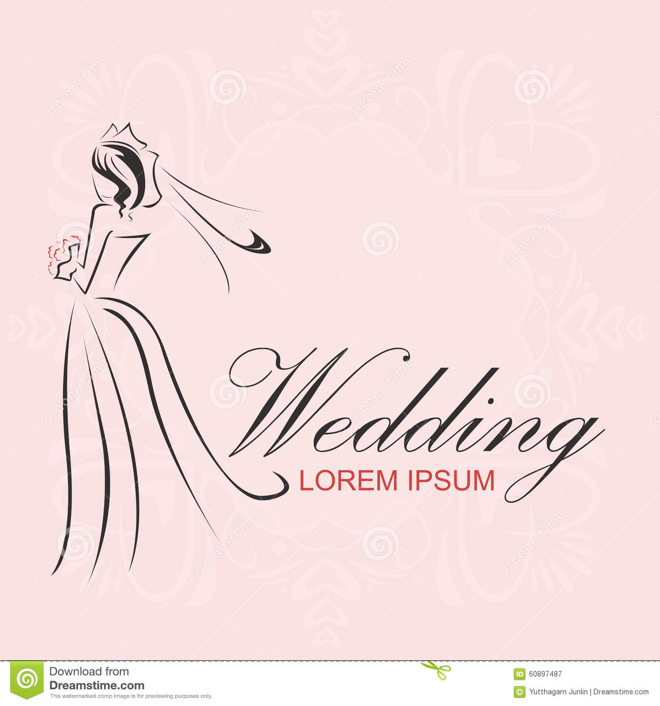 Wedding Logo Stock Vector Image 60897487