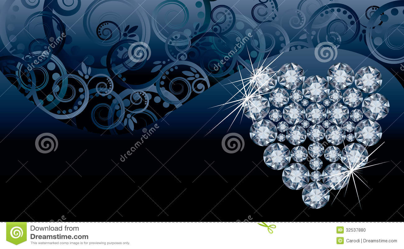 Wedding love invitation card with diamond heart stock - Coeur avec des photos ...