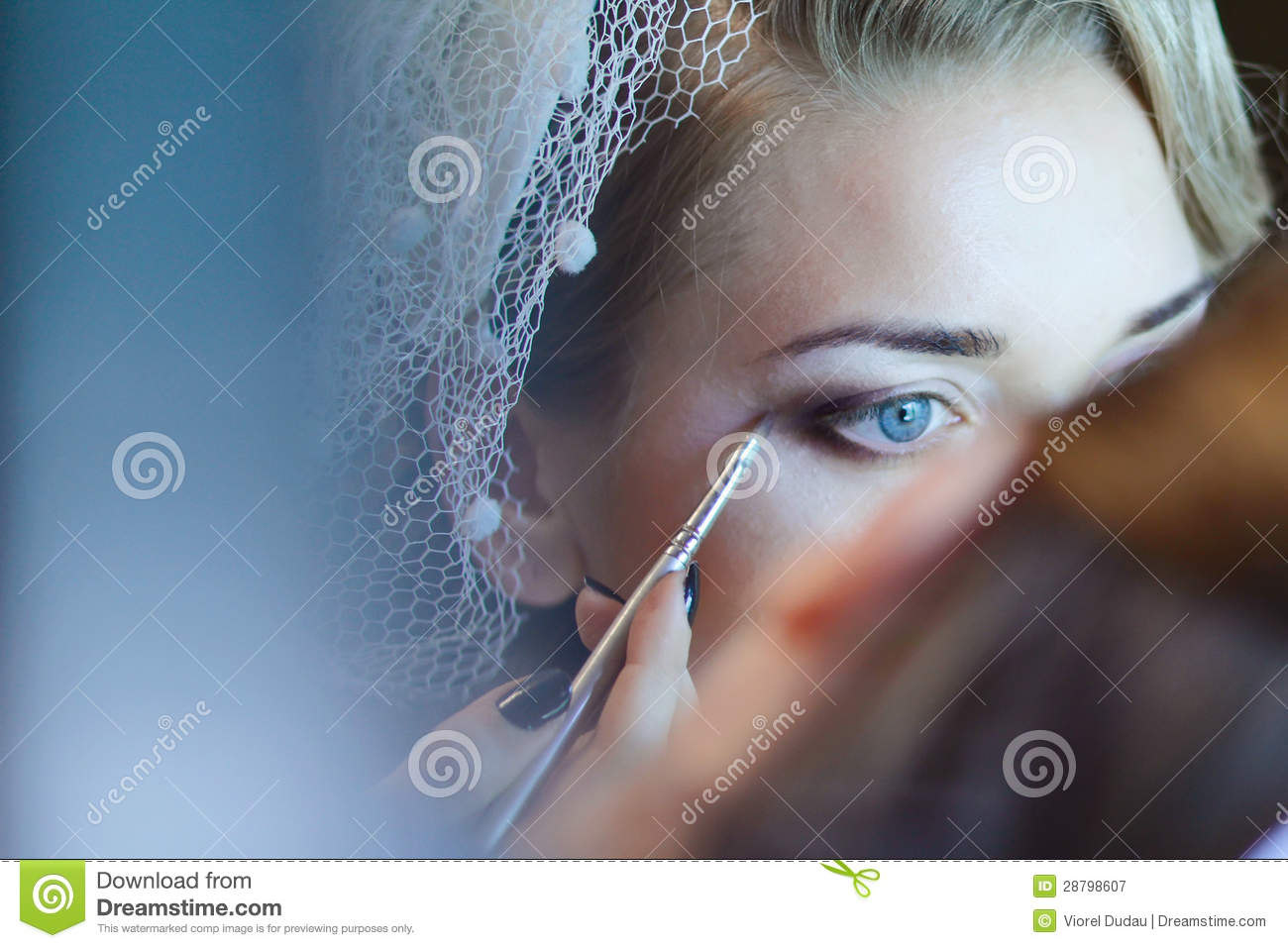 Stock Photo Royalty Free Wedding makeup Royalty Free