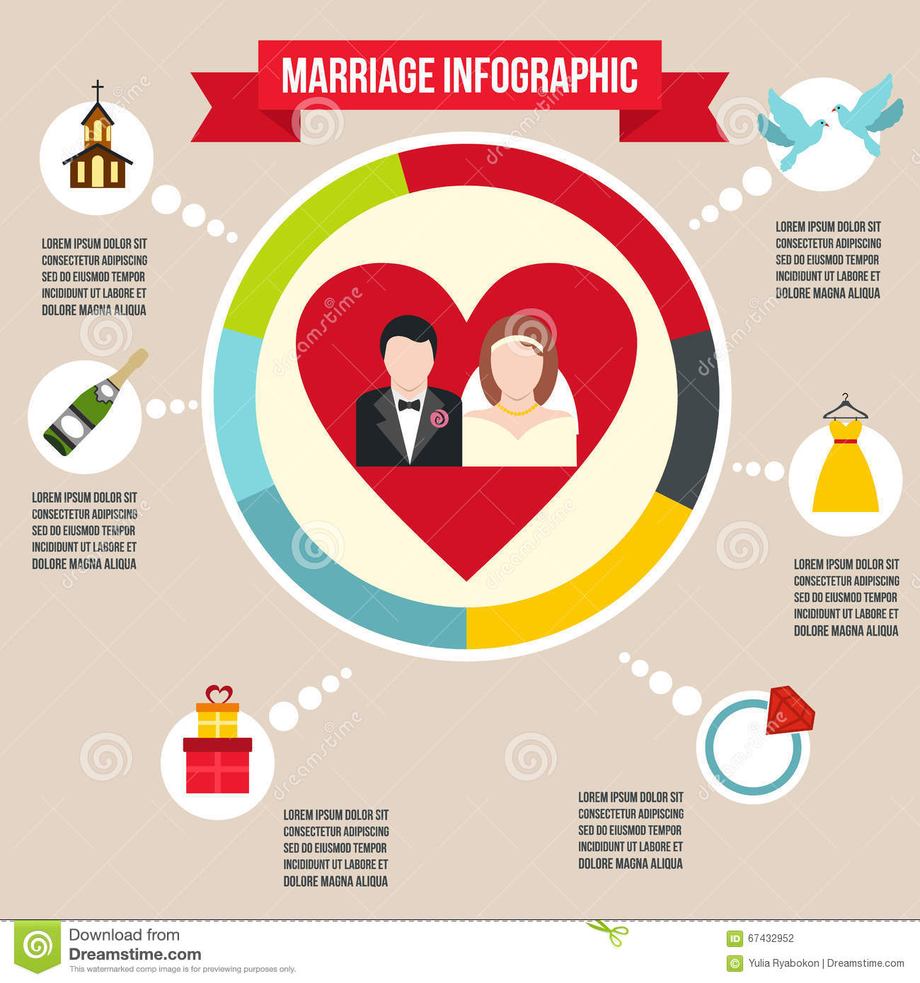 Wedding Marriage Infographic Stock Vector - Image: 67432952