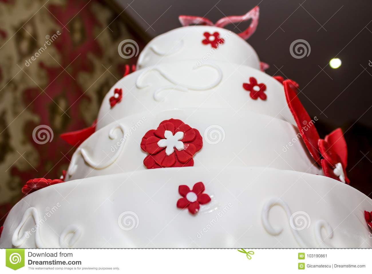 Wedding marzipan cake stock image. Image of festive - 103190861