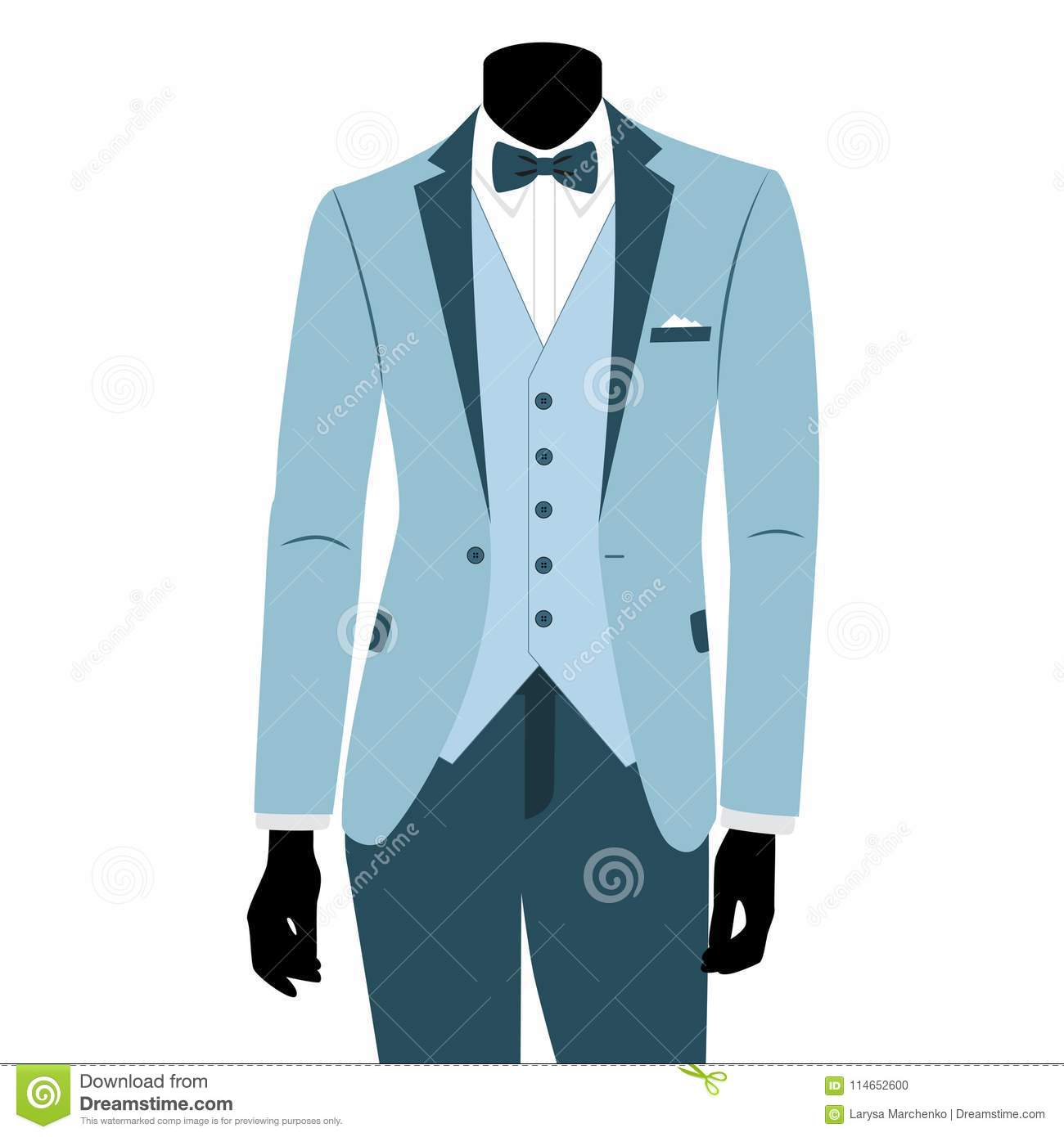 Wedding Men`s Suit And Tuxedo. Stock Vector - Illustration of ...