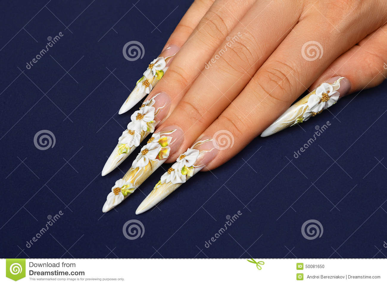 Wedding Nails Design Stock Photo Image Of Creative 50081650