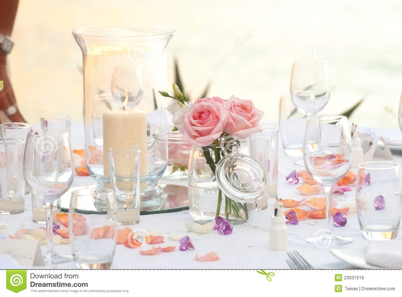 Wedding Or Party Dinner Table Stock Image