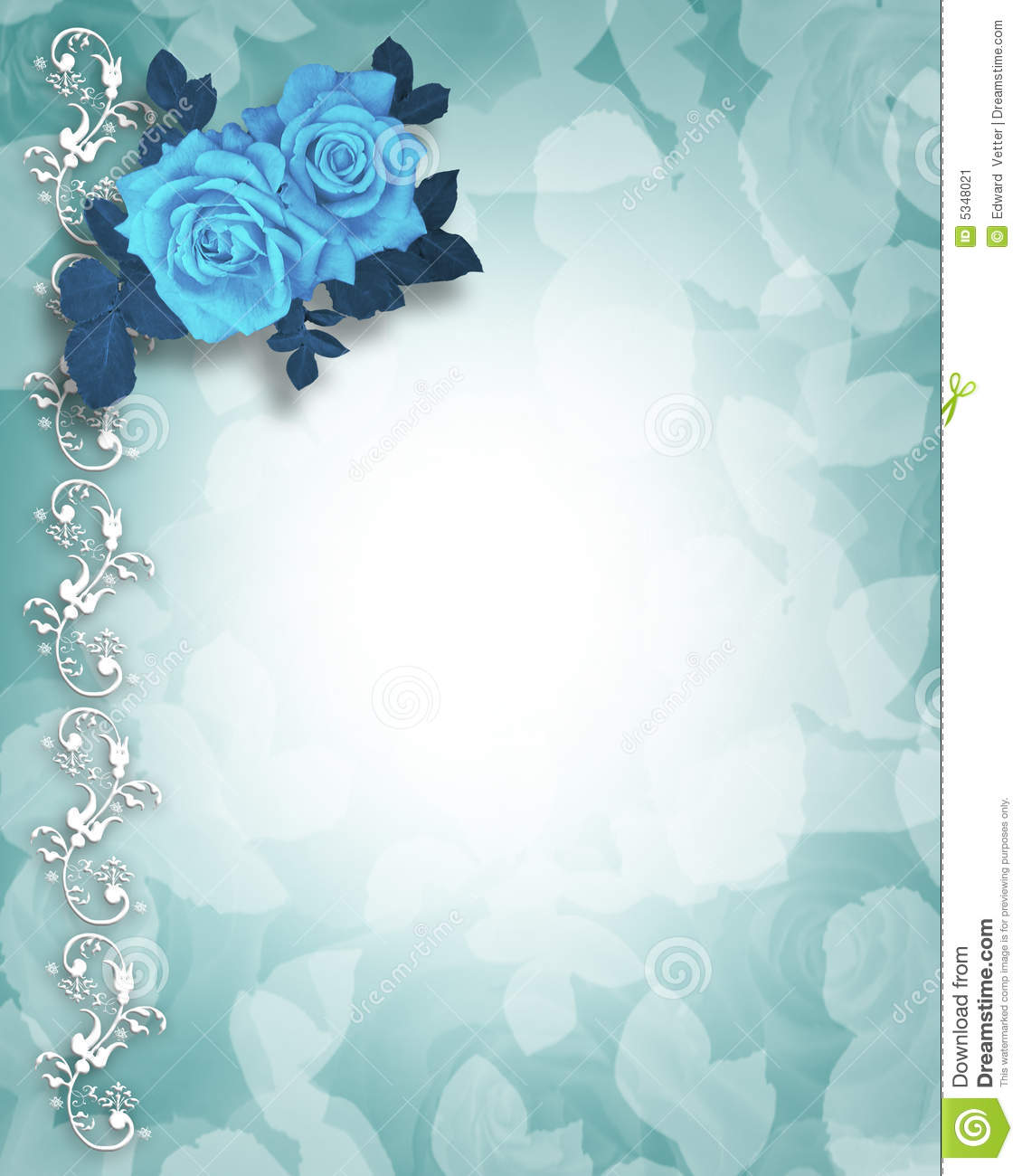 Blue wedding roses